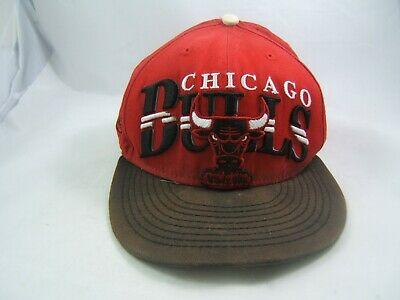 c70a1058b07 Vintage Chicago Bulls NBA Hat Faded Beat Up Red Black Snapback Baseball Cap