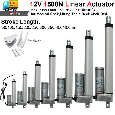 1500N Linear Actuator 12V DC Motor 330lbs Pound Auto Lift Window Door Opener 18""