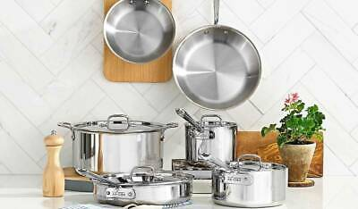 All-Clad D5 Stainless Steel 10-Piece Cookware Set 5-ply - Brand New SEALED