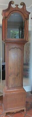 Antique Longcase Clock Case. Oak. For 13 by 18 Dial. 87 inches.