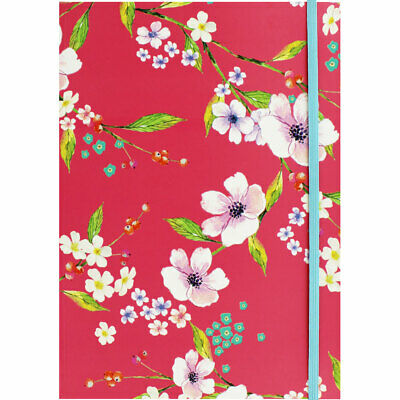 A4 Floral Lined Notebook - Assorted, Stationery, Brand New