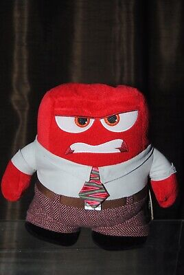 Disney Store Inside Out 9 Inch Anger Soft Plush Toy Bnwt