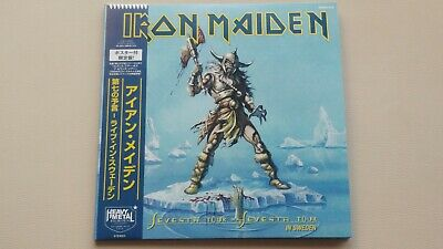 """Iron Maiden """"seventh Tour Of A Seventh Tour In Sweden"""" 2 Vinyl + Poster. Rare"""