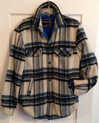 TOWNCRAFT JC PENNEYs Vintage 50s/60s Rockabilly Hipster PLAID Jacket Men's M #3