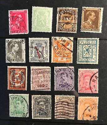 Belgium postage stamps  lot of 16 old