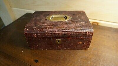 18th Century Antiques Victorian leather jewellery box