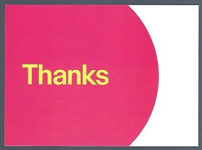 """eBay-Branded 5.5"""" x 4"""" Thank You Postcards RED 50 Postcards"""