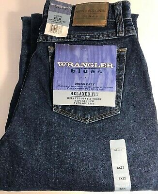 Ladies Wrangler Blues Dress Easy Relaxed Fit Jeans 6 8 10  x 32 or 34 NEW