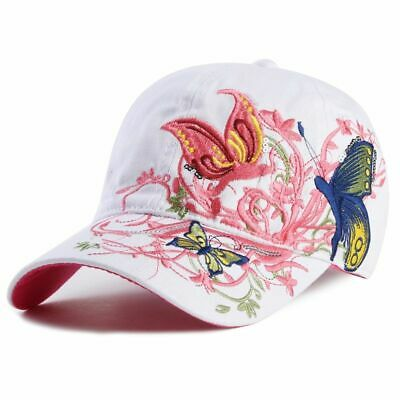 Baseball Hat Cap Butterflies And Flowers Embroidery Cotton Caps Casual Hats