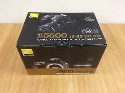 Nikon D5600 DSLR with AF-P DX NIKKOR 18-55mm f/3.5-5.6G VR lens Kit - UK Model