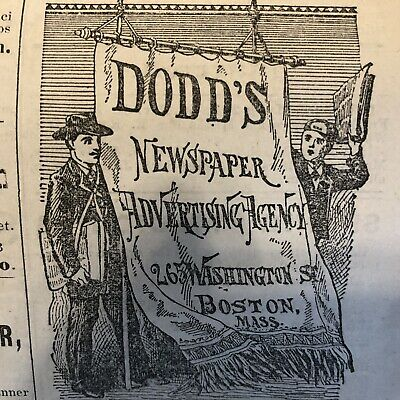 5 1878 WOBURN MASSACHUSETTS newspapers LOCAL ADVERTISING Mystic River Valley