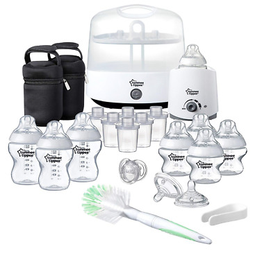 Tommee Tippee Feeding Bottle Set Closer to Nature New Mothers Baby Essential Kit