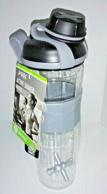 Fit & Fresh JAXX ACTIVE SHAKER 24 OZ Bottle Black Protein Shake Fitness Workout