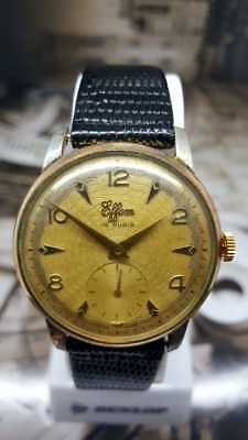Vintage Effem AS 1130 Cal Hand Winding Men Wrist Watch Gold Plated