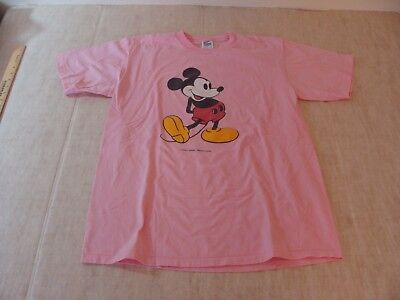 602012661e VTG 80S MICKEY MOUSE WALT DISNEY PRODUCTION USA Jerzees Pink Unisex T Shirt  L