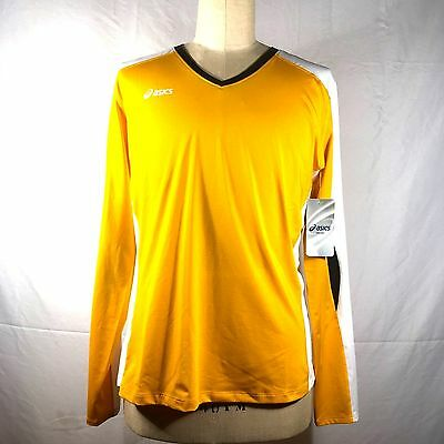 8301ceed83e Asics Womens Size 2XL T-Shirt Long Sleeve Gold White Black