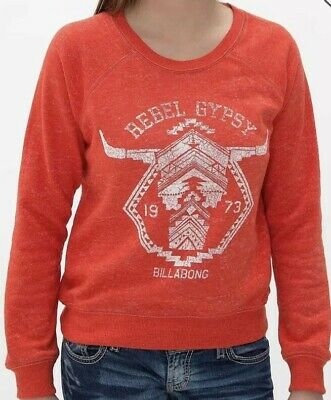NEW Womens Billabong Hoodie MSRP $50 Sweatshirt Sz M With Tags Nothing But Waves