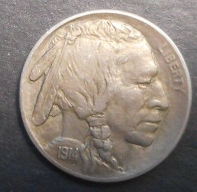 United States US 1914 S  Buffalo  Nickel  Coin AUNC NICE Semi Key