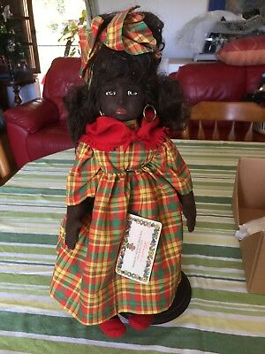 Lenci 1994 Caribbean Dark Doll In Her Box With Tags - Large 18Inch Doll Perfect
