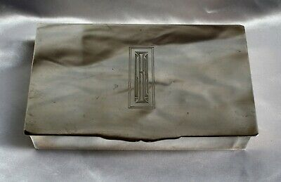 """Magnificent Art Deco Sterling Silver Box 11.4 Oz """"Must See"""""""