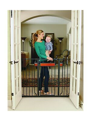 Regalo Home Accents Extra Tall and Wide Walk Thru Baby Gate, Includes Décor H...