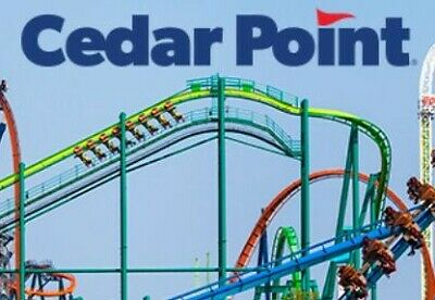 (2) Cedar Point 1 day General Admission ticket E-Tickets