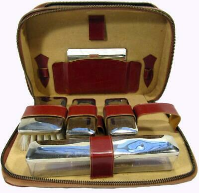 Men's Travel Case Toiletry Grooming Shaving PVC Zippered Case 6 piece Set