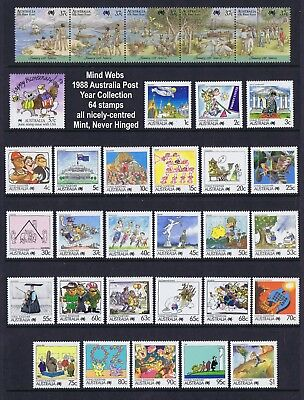 Australia Post Year Collection 1988 (64 stamps) MNH 'CHEAP AS!!'