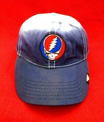 Grateful Dead Steal Your Face Skull Tie Dye Top Distressed Concept One Hat Cap
