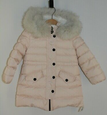 04be61573 MONCLER BABY GIRL Pink Down Feather Full Length Winter Coat Size 6 9 ...