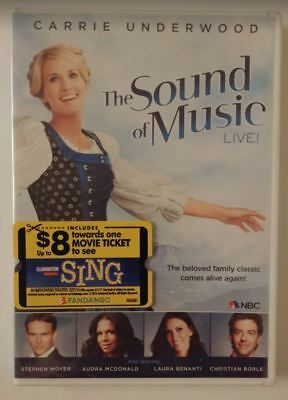 Sound Of Music Live Dvd Region 1 English Only Case Broken See Picture