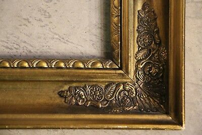 Antique gold gilt carved wood frame for mirror or picture carved French Empire
