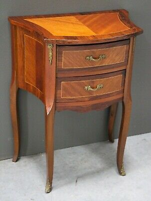 Antique petit commode small chest of drawers ornate marquetry and ormolu mounts