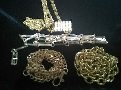 lot of 4 womens assorted gold tone belts - great variety - rhinestones, vintage
