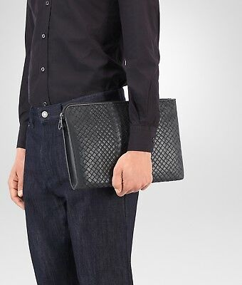 Porte documents BOTTEGA VENETA Intracciato Aurelio Urbandoc Cuir Sac Pochette