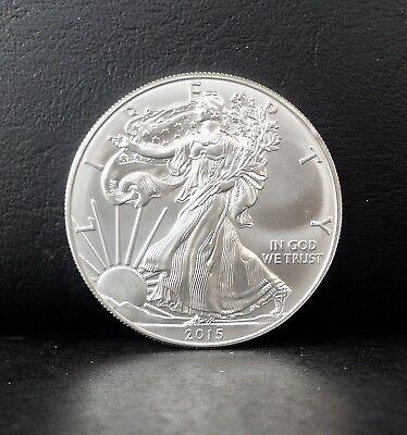 2015 1 oz American Eagle .999 Fine SILVER dollar BRILLIANT UNCIRCULATED