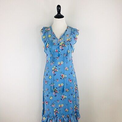 Disney Alice Through The Looking Glass Maxi Dress Size XS X-Small Vacation Blue