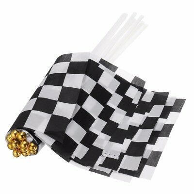 12pcs/set Chequered F1 Formula One Racing Banners Handhold Flag Black & White