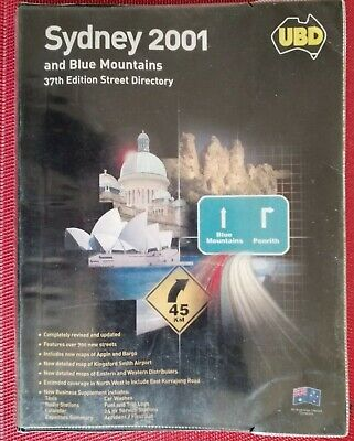 Collectable 2001 UBD Sydney & Blue Mountains 37th Edition Street Directory