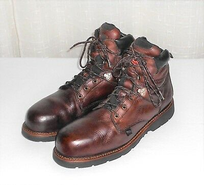 c5499ed8fa8 THOROGOOD 804-4706 BROWN Leather Steel Toe Lace Up Safety Ankle Boot Men's  13 D