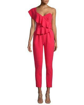 b59f8ce98a75 Alexia Admor Dressy One Shoulder Ruffle Jumpsuit Pink Size 8 ORIG  245