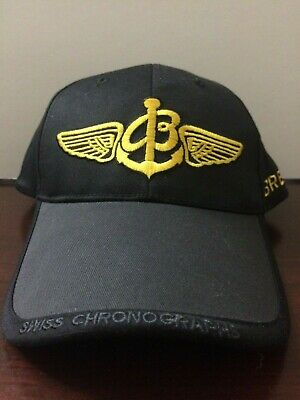 82f8423250e NEW BREITLING Luxury Watches -SINCE 1884- BLACK BASEBALL HAT CAP Airplanes