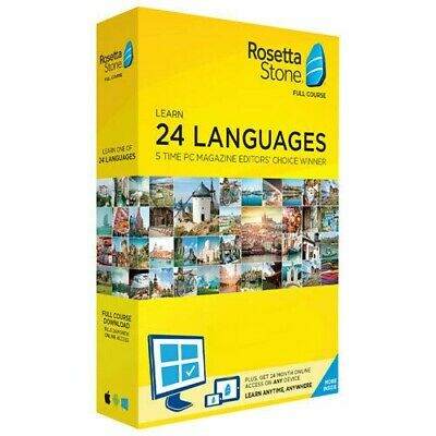 Rosetta Stone Lifetime Subscription - 24 Language Online Learnin - Fast Delivery