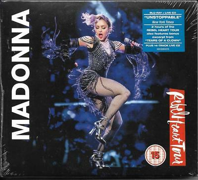 Cd 14 Titres + Blu-Ray Digipack Madonna Rebel Heart Tour 2017 Neuf Scelle