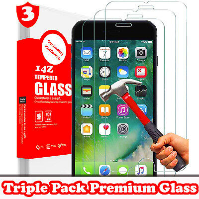 TRIPLE PACK For Apple iPhone 7 Plus TEMPERED GLASS SCREEN PROTECTOR