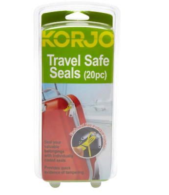 KORJO LuggageLock™ Tamper Evident Security Seal Luggage Tag, Yellow Pack of 20
