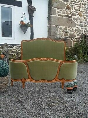 beautiful double french louis xv revival corbielle bed sought after triple panel