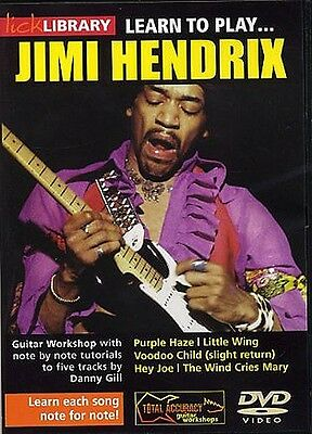 Lick Library LEARN TO PLAY JIMI HENDRIX 5 Songs Hey Joe Guitar Lessons Video DVD