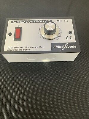Brand New   Flakt Woods ME1.6 speed controller Including Back Box