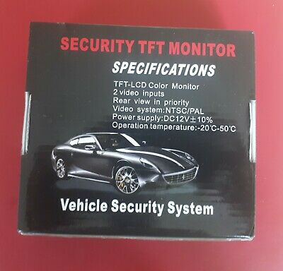 Bnib 4.3 Inch Tft Colour Monitor. Rear View  Security